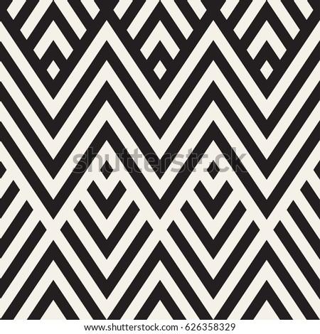 Abstrakten Zick-Zack- parallel Streifen stylish ethnischen Stock foto © samolevsky