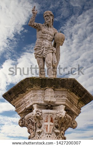 Statue of the Redeemer at Piazza dei Signori in Vicenza, Italy Stock photo © boggy