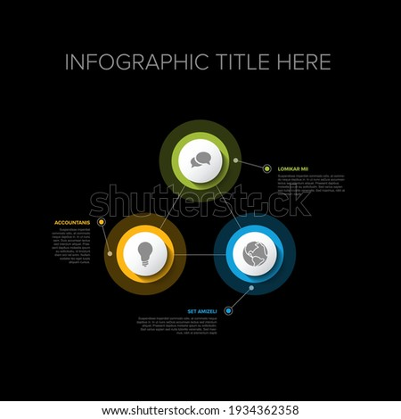 Multipurpose Infographic template with three elements - premium version Stock photo © orson