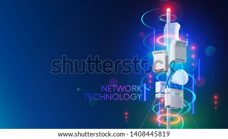 5G mobile technology fifth generation telecom network background Stock photo © SArts