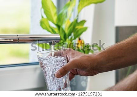 水 外に タップ 白 キッチン ドリンク ストックフォト © magraphics