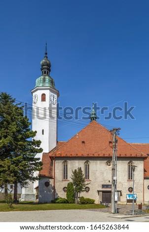 Church Of St Imrich Casta Slovakia Stockfoto © Borisb17