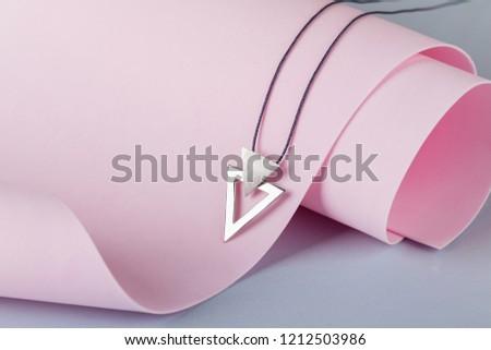現代 ミニマリスト 銀 イヤリング ブラウン 女性 ストックフォト © grafvision