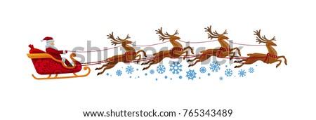 vektor · mikulás · repülés · hold · karácsony · ünnep - stock fotó © cidepix