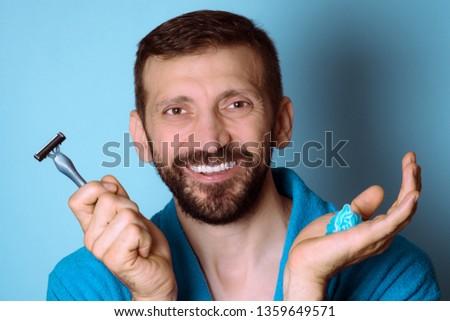 ポジティブ 白人 男 準備 剃る バス ストックフォト © wavebreak_media