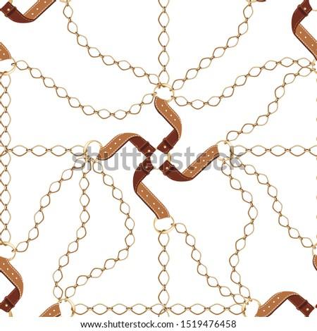 ожерелье кожа ткань металл детали изолированный Сток-фото © deymos
