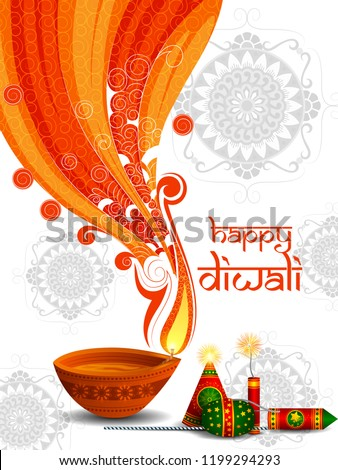 Diwali férias decorado colorido vetor feliz Foto stock © bharat