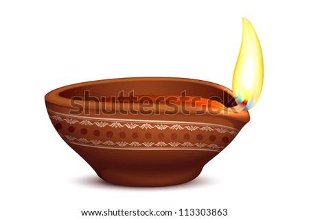 beautiful religious oil lamp with diwali diya elements fantastic stock photo © bharat