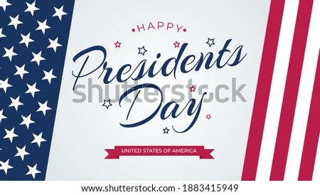 Vector President Day in United States of America brochure templa Stock photo © bharat