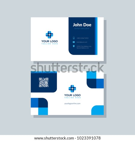 Beautiful medical business card or visiting card colorful vector Stock photo © bharat