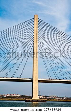 puente internacional del guadiana bridge over the guadiana river in ayamonte huelva spain stock photo © photooiasson