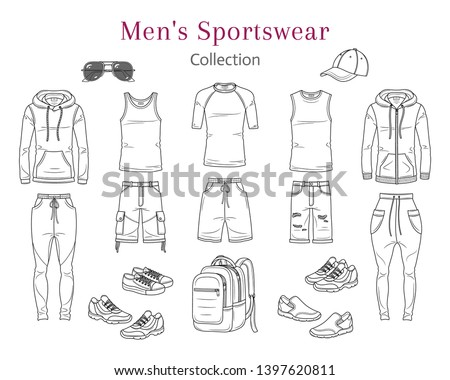 Aktív férfi sport visel pulóver sapka Stock fotó © feelphotoart
