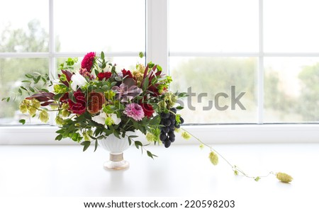 Unusual wedding bouquet with succulent flowers and hop in retro  Stock photo © dashapetrenko