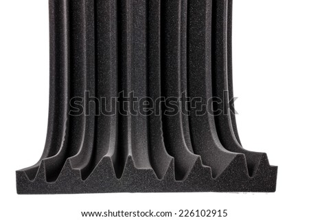 cross section of microfiber foam insulation for noise in music s Stock photo © feelphotoart