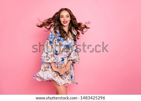 Lovely model with shiny volume curly hair with flowers, winter w Stock photo © vlad_star