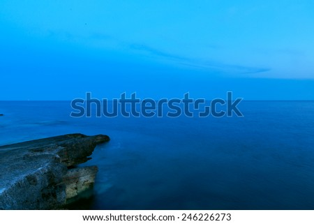 Belo rochas mar nascer do sol Croácia nuvens Foto stock © Fesus