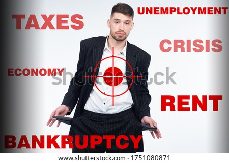 Foto stock: Empresário · problemas · difícil · situação · empresários · significado