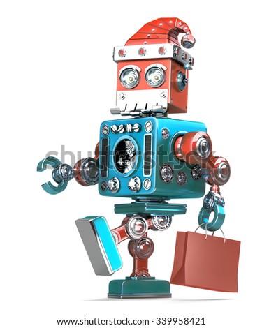 robô · natal · 3d · render · futuro · dom · férias - foto stock © kirill_m