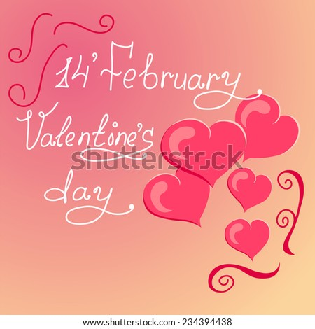 Red heart shape. Happy Valentines Day. Typescript greeting text Stock photo © orensila