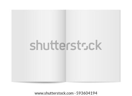 Open White Blank Brochure Magazine for Mock up - Vector Illustra Stock photo © Akhilesh