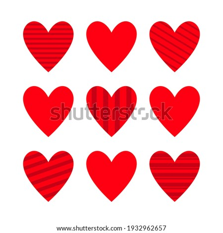 flat style vector circle template collection of valentines day o stock photo © anna_leni