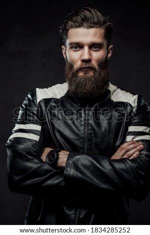 schommelstoel · zwarte · poseren · donkere · studio - stockfoto © feedough