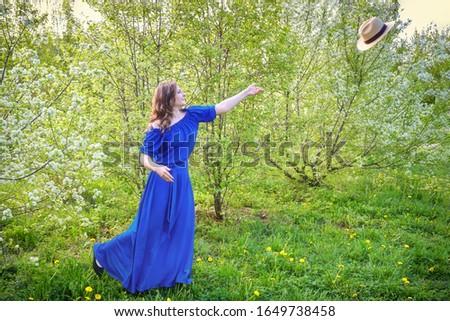 саду · красивой · вертикальный · портрет · весны - Сток-фото © artfotodima