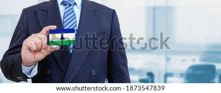 Karty kredytowej Lesotho banderą banku prezentacje działalności Zdjęcia stock © tkacchuk