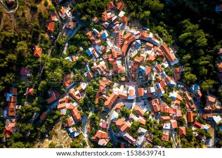 Foini, a traditional mountain Cyprus village. Limassol District Stock photo © Kirill_M