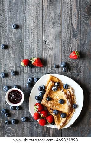 meyve · pasta · taze · ahududu · bağbozumu - stok fotoğraf © davidarts