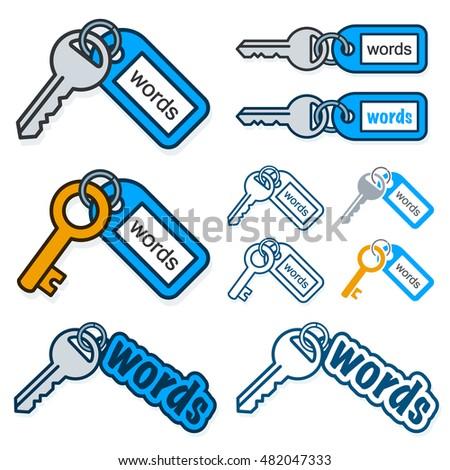 conjunto · vetor · teclas · casa · segurança · preto - foto stock © adrian_n