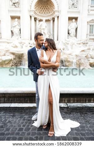 Hermosa novia moda vestido de novia posando romana Foto stock © Victoria_Andreas