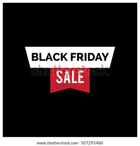 black friday sale inscription design template rectangular banne stock photo © diamond-graphics