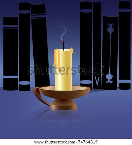 Zwarte kroonluchter silhouet kaarsen plaats tekst Stockfoto © mcherevan