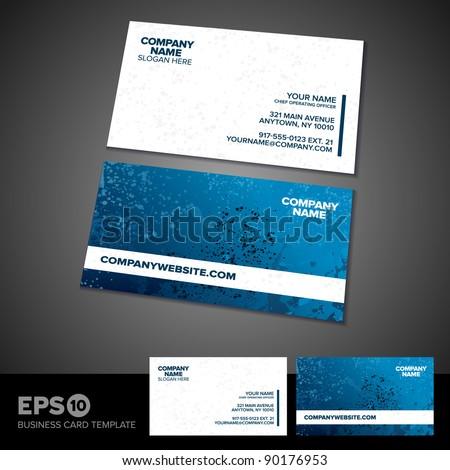 Creativo splatter biglietto da visita business vettore design Foto d'archivio © SArts