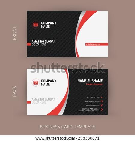 Dunkel Rot Schwarz Visitenkarte Vorlage Vektor