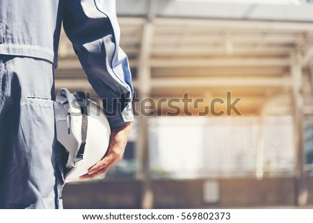 Under construction concept with protective yellow hard hat helme Stock photo © stevanovicigor