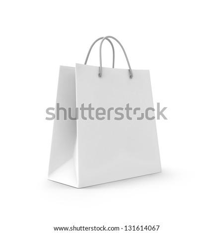 3d illusztráció üres karton táska izolált fehér Stock fotó © tussik