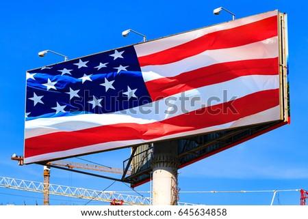 grunge · cidade · bandeira · EUA · viajar · américa - foto stock © nobilior