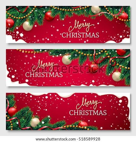 happy · new · year · publicité · bannière · vecteur · ensemble - photo stock © nikodzhi