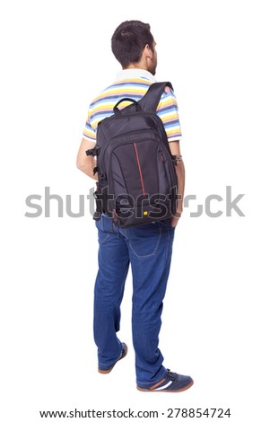 Rear view of male college student standing in university corrido stock photo © monkey_business
