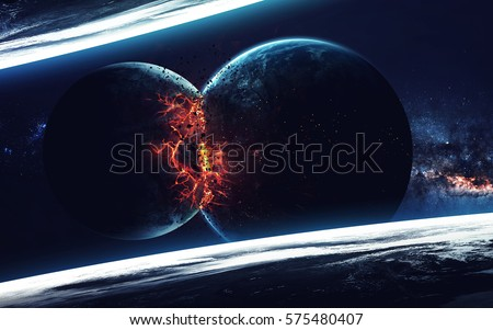 Planet Explosion - Saturn. Elements of this image furnished by NASA Stock photo © NASA_images