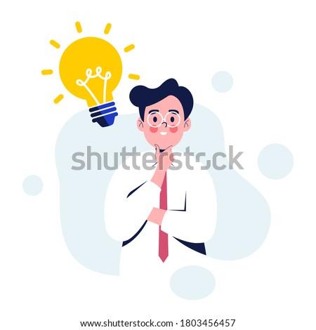 男性 · 頭 · シルエット · 電球 · グラフィック - ストックフォト © popaukropa