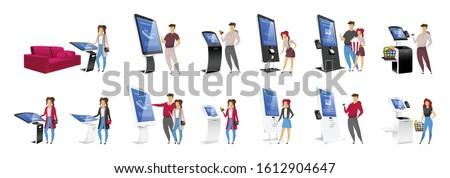 Digitális feliratozás érintés szett vektor kirakat Stock fotó © pikepicture