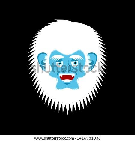 yeti cheerful emoji bigfoot happy face abominable snowman merr stock photo © popaukropa