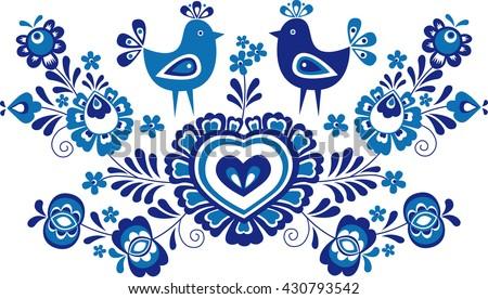традиционный орнамент цветочный вышивка символ изолированный Сток-фото © kurkalukas