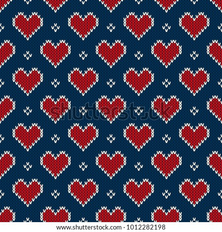 christmas winter vector seamless pattern cross stitch repetitive design scandinavian greeting ca stock photo © redkoala