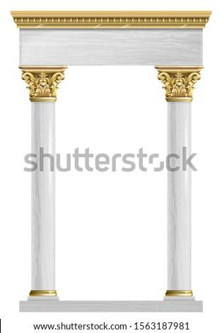 Starożytnych antyczne budynku kolumny wektora sztuki Zdjęcia stock © popaukropa