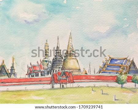 thai · művészet · festmény · papír · palota · Bangkok - stock fotó © rufous