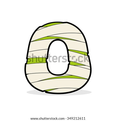 Letter O Egyptian zombies. Mummy ABC icon coiled medical bandage Stock photo © popaukropa